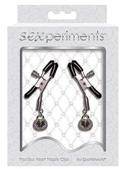 Sexperiments Precious Heart Nipple Clips-0