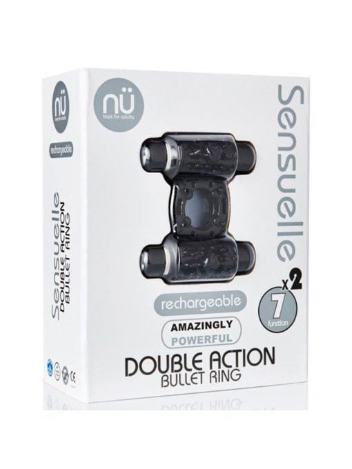 Sensuelle Double Action Bullet Ring-0
