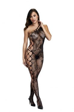 Baci Off The Shoulder Bodystocking-0