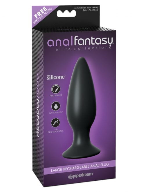 Anal Fantasy Elite Large Rechargeable Anal Plug-0