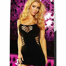 Lapdance Cash Cage Mini Dress-0