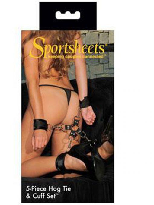 Sportsheets 5-Piece Hog Tie & Cuff Set-0