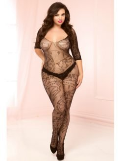Seven Til Midnight 20421X Bodystocking - Black - Queen-0