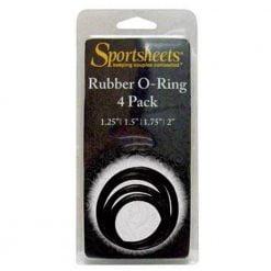 Sportsheets Rubber O-Ring 4pk-0