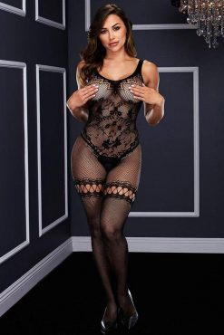 Baci 5000 Crotchless Bodystocking - One Size-0
